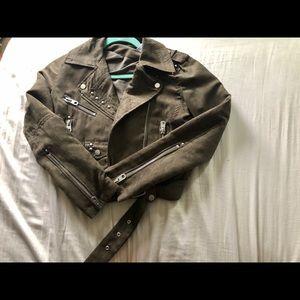 Design Lab Faux Suede Moto Jacket